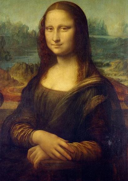 Mona Lisa painting, a woman smiling